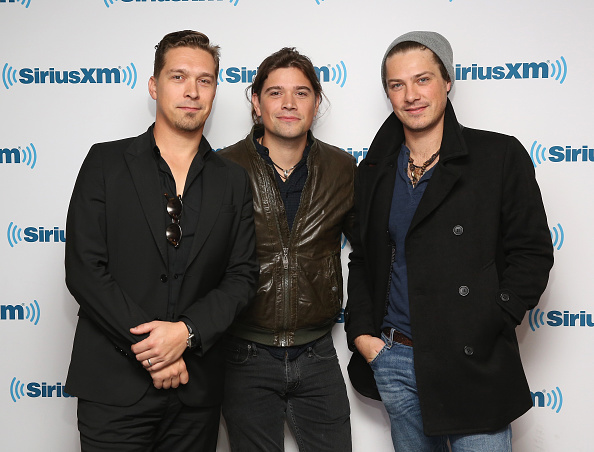 NEW YORK, NY - OCTOBER 16:  Isaac Hanson, Zac Hanson and Taylor Hanson of Hanson visit at SiriusXM Studios on October 16, 2015 in New York City.  (Photo by Robin Marchant/Getty Images)