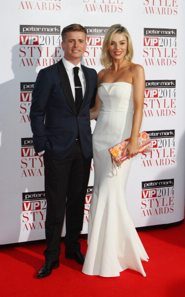 DUBLIN, IRELAND - APRIL 25: Brian Ormond and Pippa O'Connor attend the Peter Mark VIP Style Awards at Marker Hotel on April 25, 2014 in Dublin, Ireland.  (Photo by Phillip Massey/Getty Images)