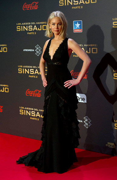 MADRID, SPAIN - NOVEMBER 10: Jennifer Lawrence attend 'The Hunger Games: Mockingjay Part 2' premiere at Kinepolis cinema on November 10, 2015 in Madrid, Spain. (Photo by Europa Press/Europa Press via Getty Images)