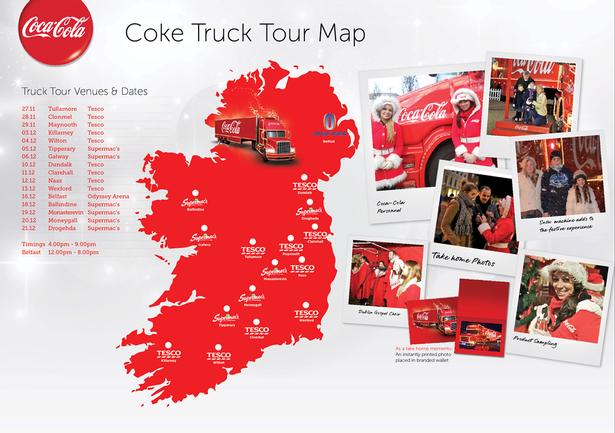 Share A Coke Tour Locations
