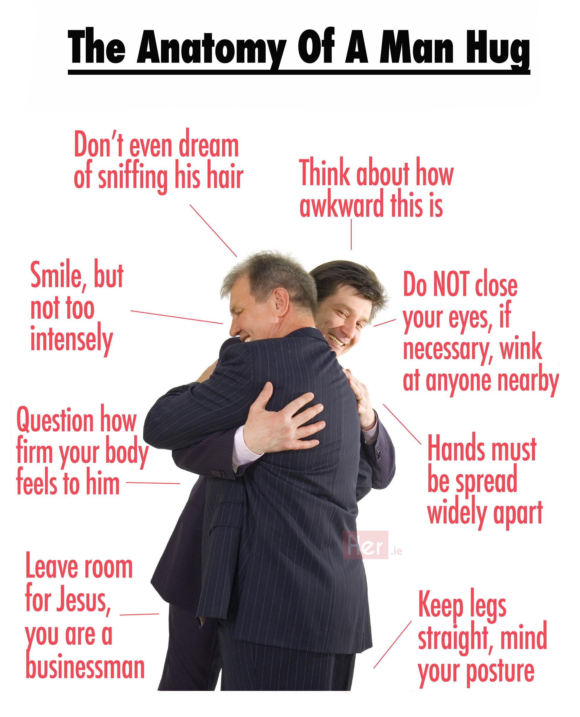 The Anatomy Of An Awkward Man Hug Her