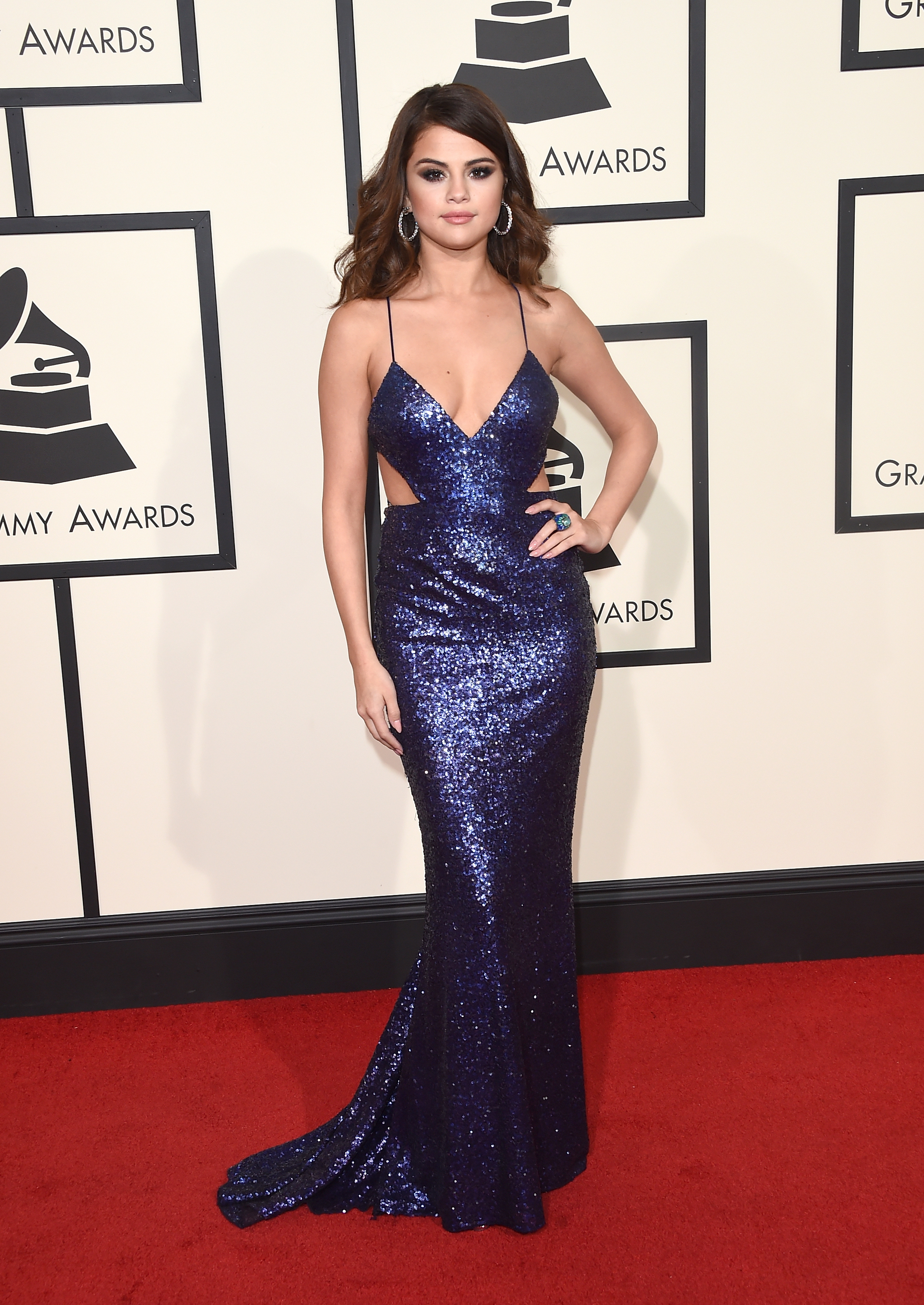 LOS ANGELES, CA - FEBRUARY 15: Singer Selena Gomez attends The 58th GRAMMY Awards at Staples Center on February 15, 2016 in Los Angeles, California. (Photo by Jason Merritt/Getty Images for NARAS)