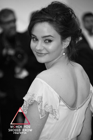 "CANNES, FRANCE - MAY 22: Actress Aisling Franciosi attend the ""Jimmy's Hall"" premiere during the 67th Annual Cannes Film Festival on May 22, 2014 in Cannes, France. (Photo by Ian Gavan/Getty Images)"