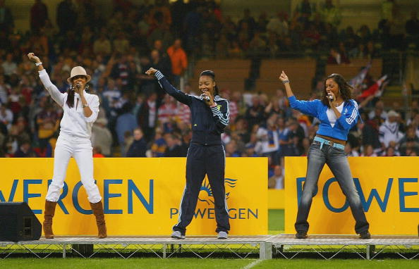 British band Misteeq perform at half time