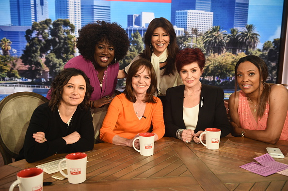 LOS ANGELES - APRIL 14: Oscar-winning actress Sally Field discusses her new film, Hello My Name Is Doris on The Talk Thursday, April 14, 2016 on the CBS Television Network. From left, Sheryl Underwood, Sara Gilbert, Sally Field, Sharon Osbourne, Aisha Tyler and Julie Chen, shown. (Photo by Ron P. Jaffe/CBS via Getty Images)
