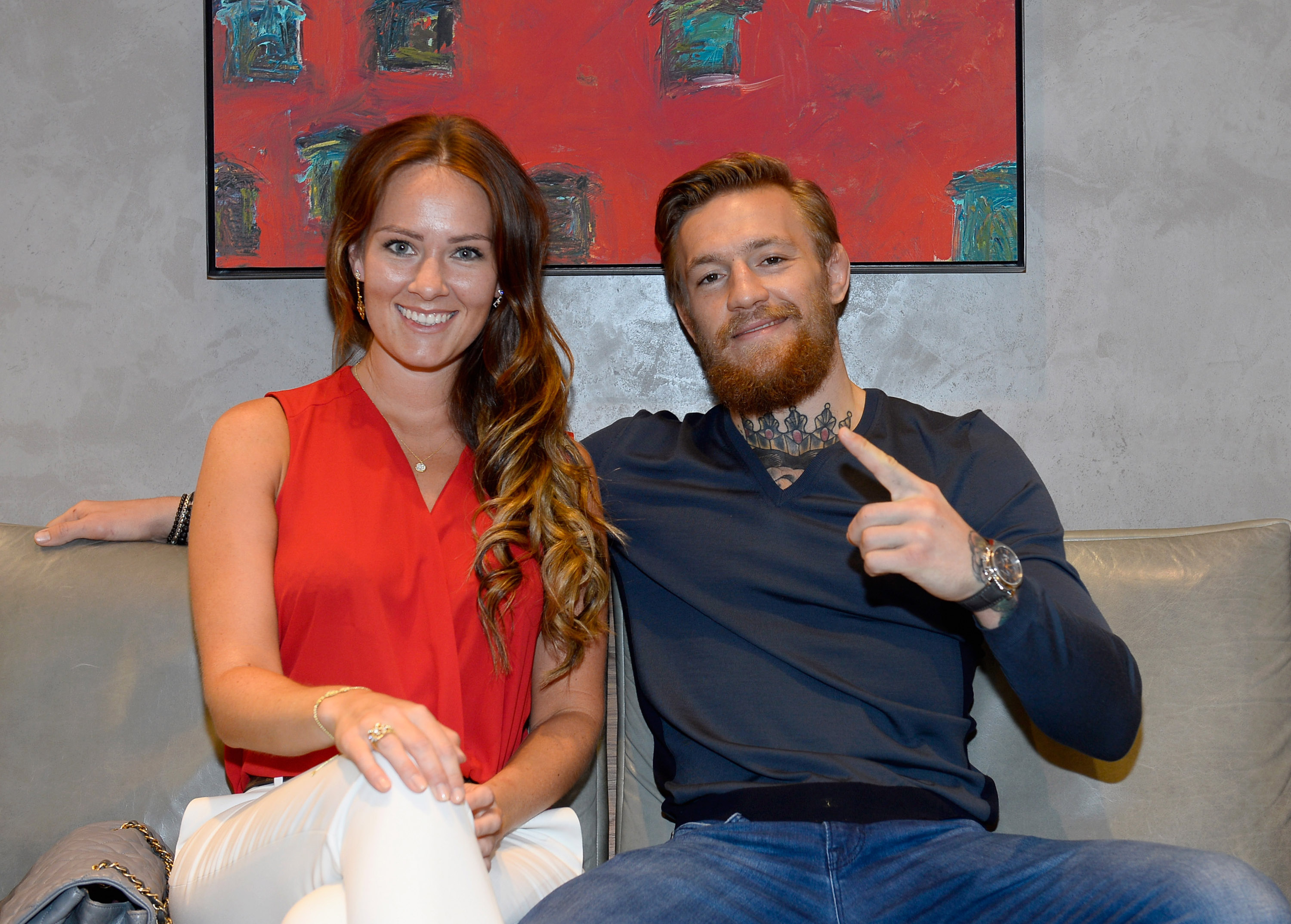 LAS VEGAS, NV - JULY 06: Dee Devlin (L) and Host/VIP Conor McGregor attend the David Yurman with Conor McGregor Hosts an In-Store Event on July 6, 2015 in Las Vegas, Nevada. (Photo by Bryan Steffy/Getty Images for David Yurman)