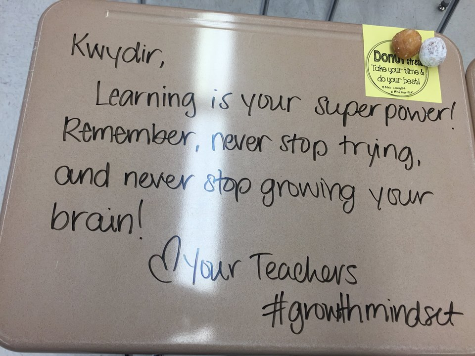 Teacher Writes Inspirational Messages On Student's Desks On Exam Day Adorable Inspirational Message Of The Day
