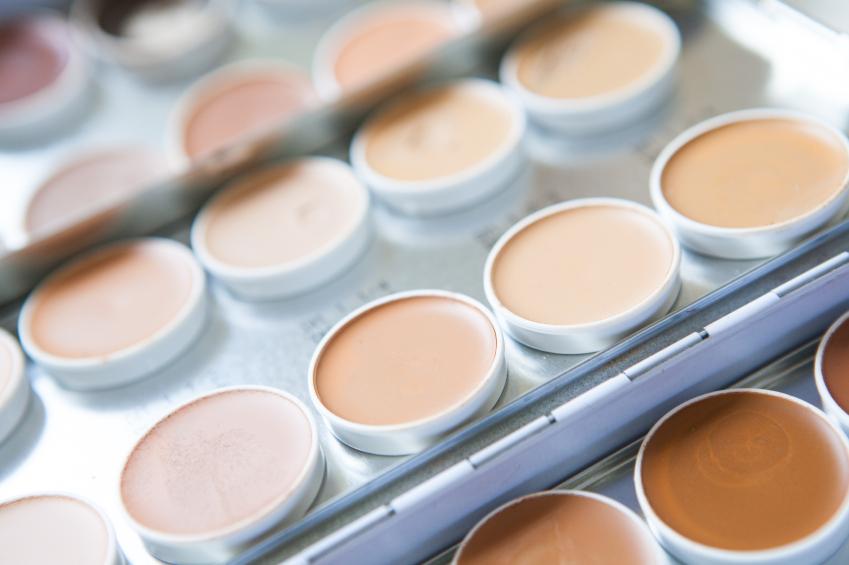 Close-up shot of make-up