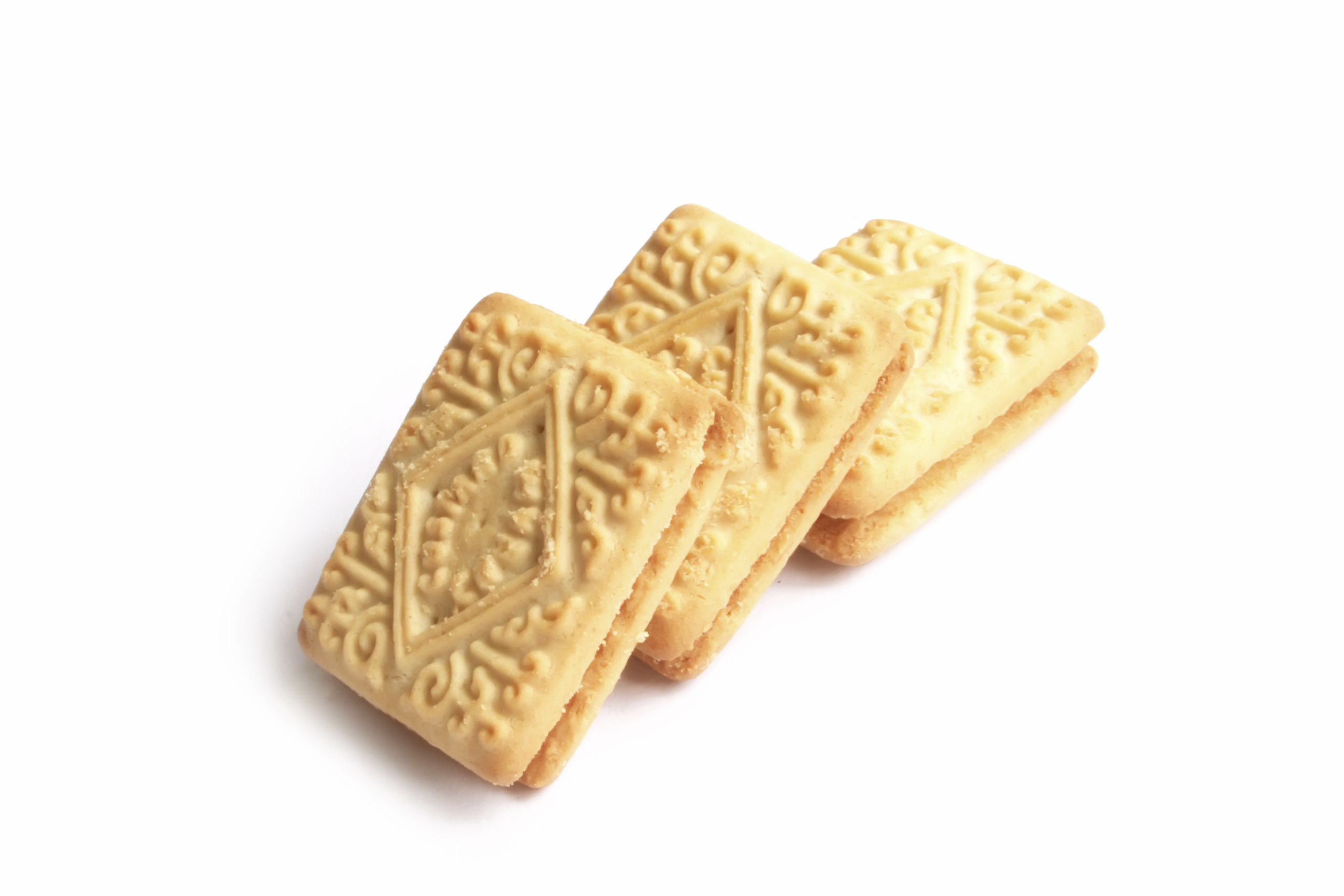English Tea Time Biscuits Isolated on a White Background