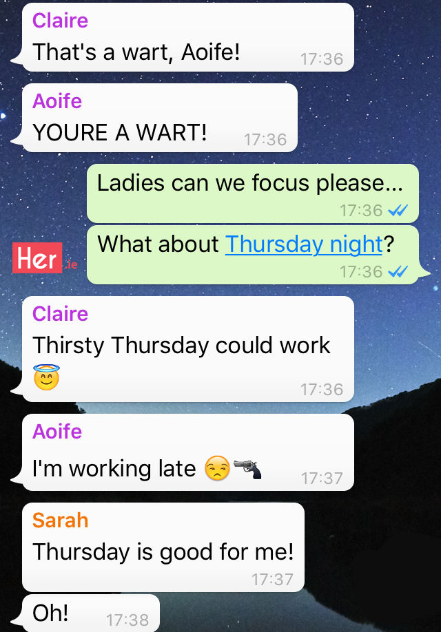 Girls Night Out WhatsApp Group | Her ie