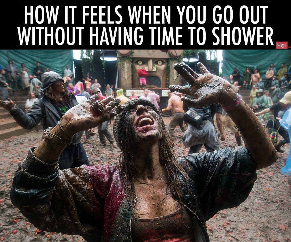 GLASTONBURY, ENGLAND - JUNE 26: Festival revellers take part in a tomato fight at the Glastonbury Festival 2016 at Worthy Farm, Pilton on June 25, 2016 near Glastonbury, England. The Festival, which Michael Eavis started in 1970 when several hundred hippies paid just £1, now attracts more than 175,000 people. (Photo by Matt Cardy/Getty Images)