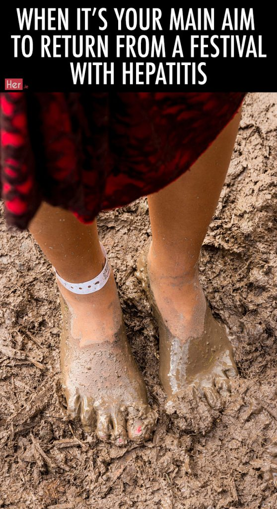 GLASTONBURY, ENGLAND - JUNE 22: A woman walks through the mud in bare feet at the Glastonbury Festival at Worthy Farm, Pilton on June 22, 2016 in Glastonbury, England. Now its 46th year the festival is one largest music festivals in the world and this year features headline acts Muse, Adele and Coldplay. The Festival, which Michael Eavis started in 1970 when several hundred hippies paid just £1, now attracts more than 175,000 people. (Photo by Ian Gavan/Getty Images)