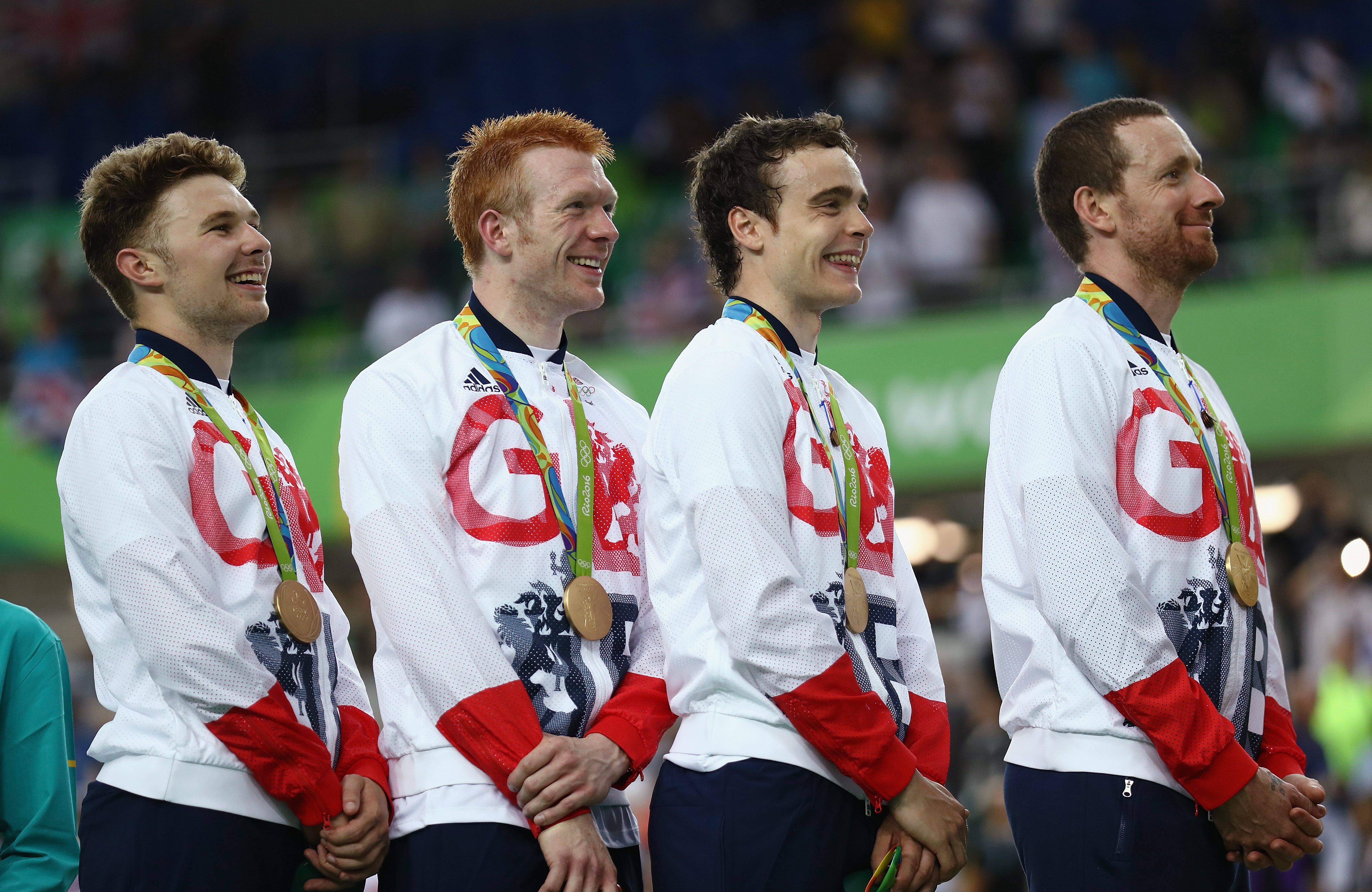 Gold Medalists Owain Doull Edward Clancy Steven Burke And Bradley Wiggins Bryn Lennon Getty Images