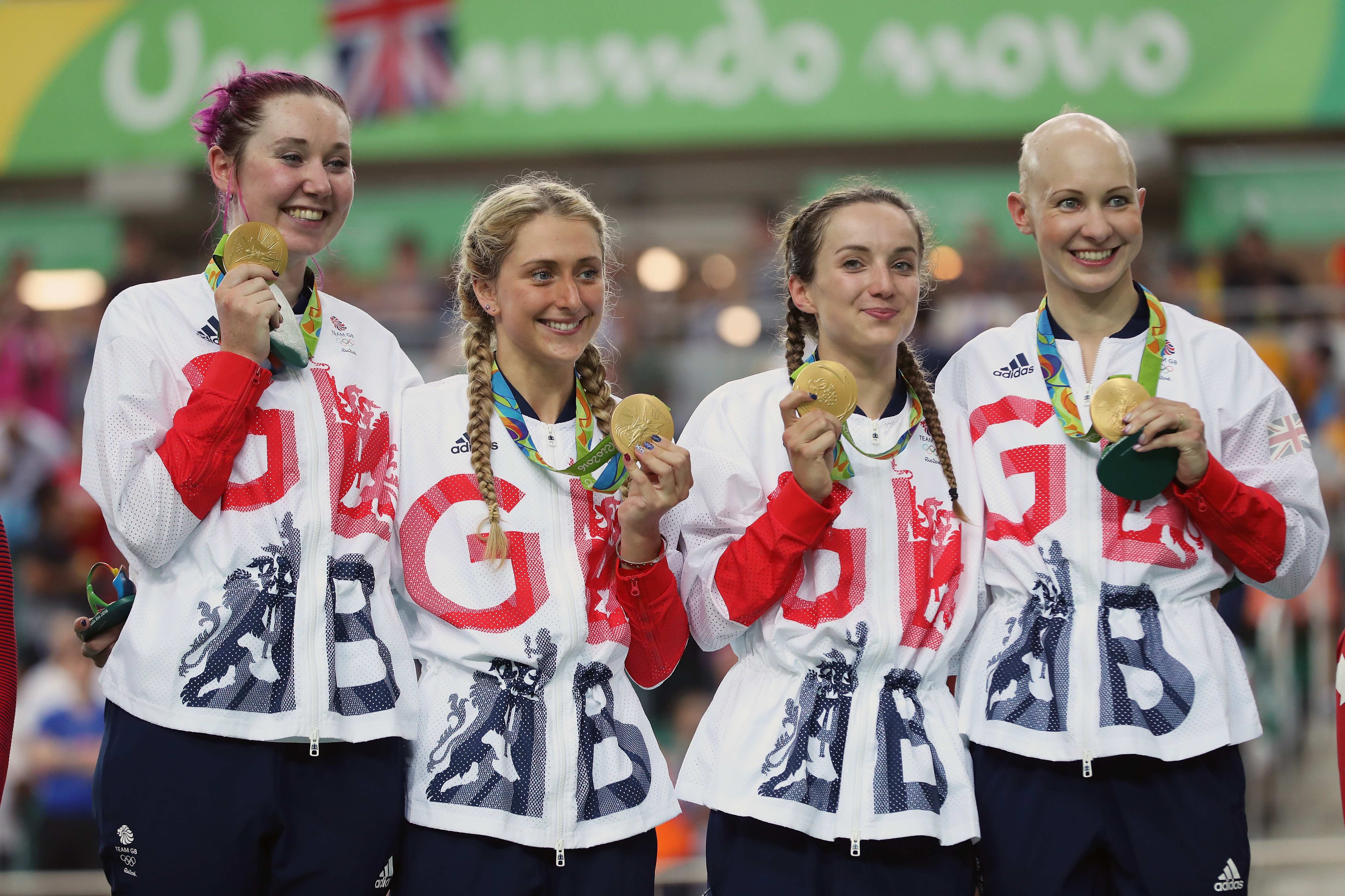 Gold Medalists Laura Trott Joanna Row Shand Katie Archibald And Elinor Barker Petersen Getty Images