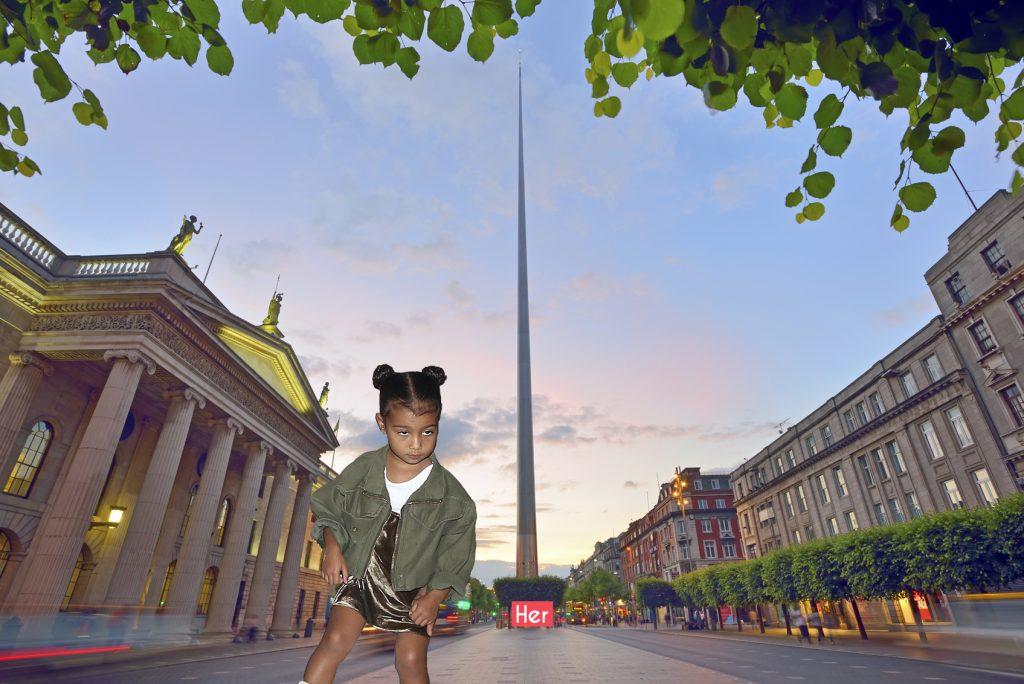 Dublin, Ireland center symbol - spire and General Post Office