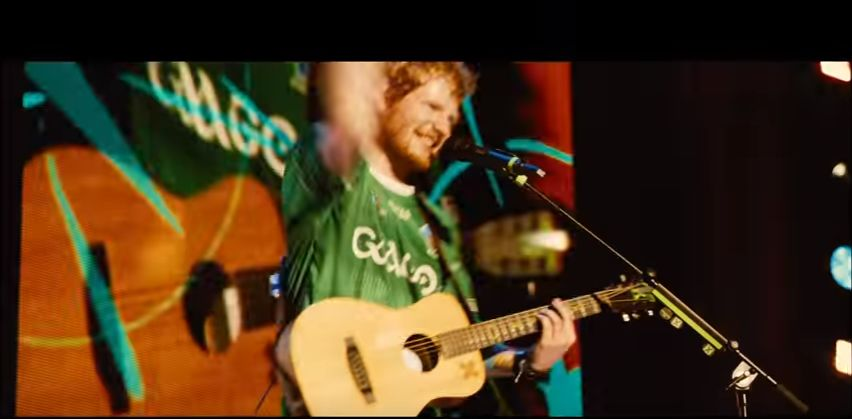 thumbnail_ED Sheeran wearing GAAGO jersey in new Bridget Jones's Baby