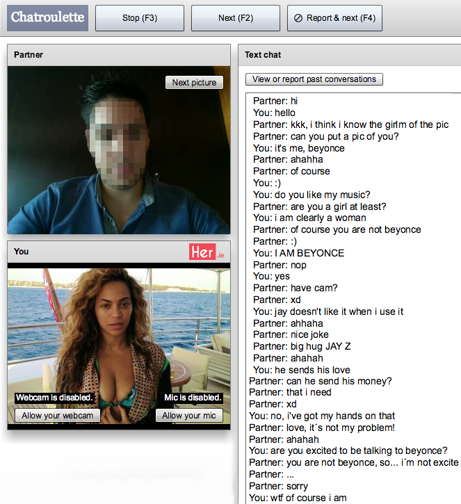 Straight chatroulette