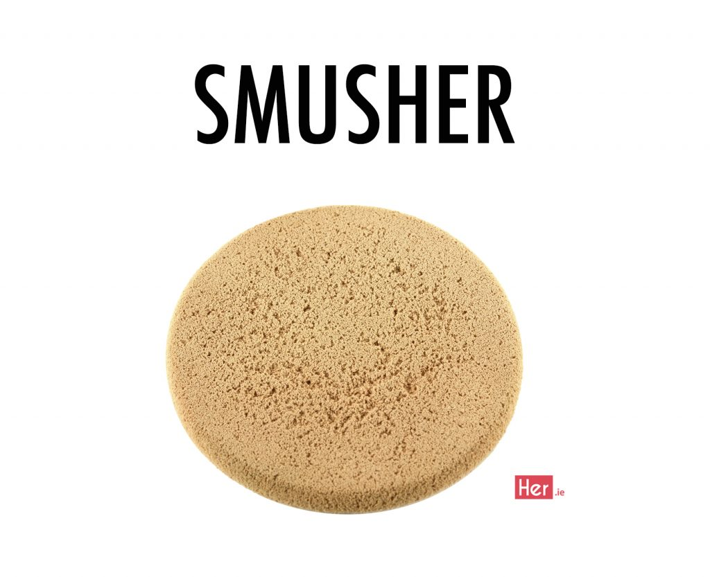 Unhealth Makeup Sponge on white background