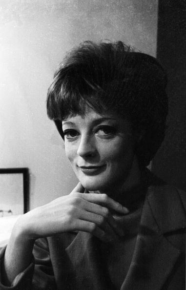 25th February 1963: British stage and film actress Maggie Smith. (Photo by Stan Meagher/Express/Getty Images)
