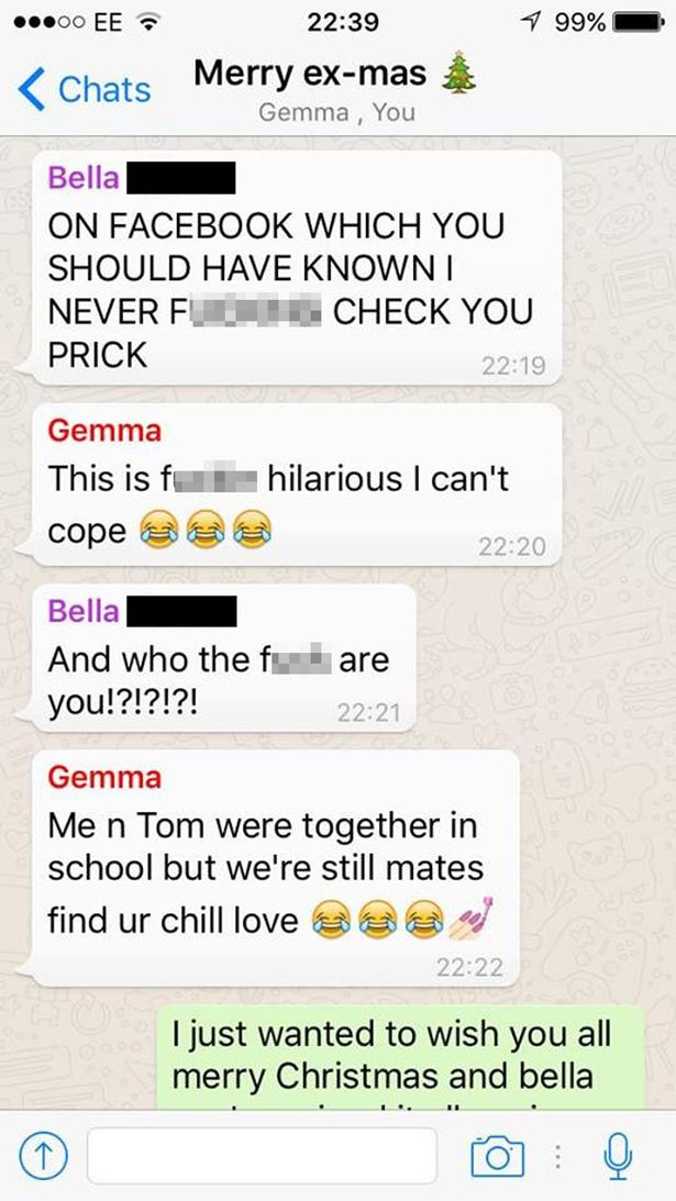 A guy decided to make a group chat with his exes and it quickly
