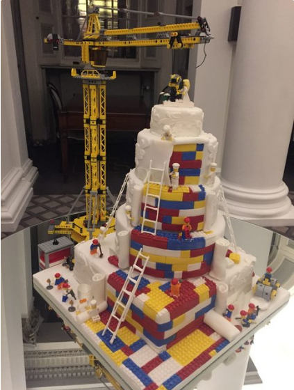 There A Fun New Lego Themed Wedding Cake Trend Her