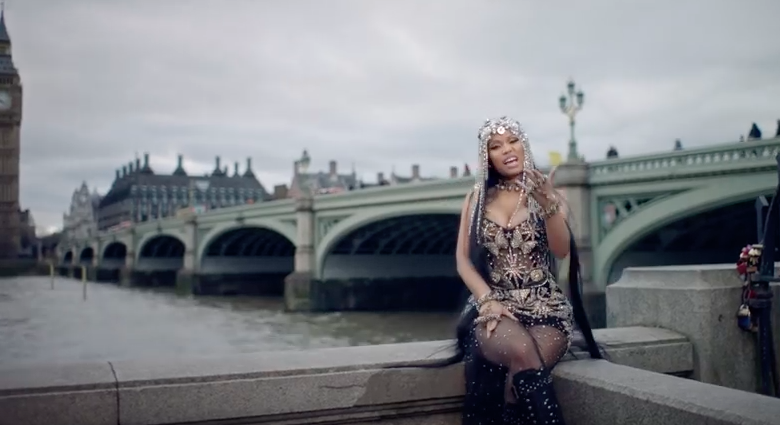 Minaj slammed for Westminster Bridge footage in new video