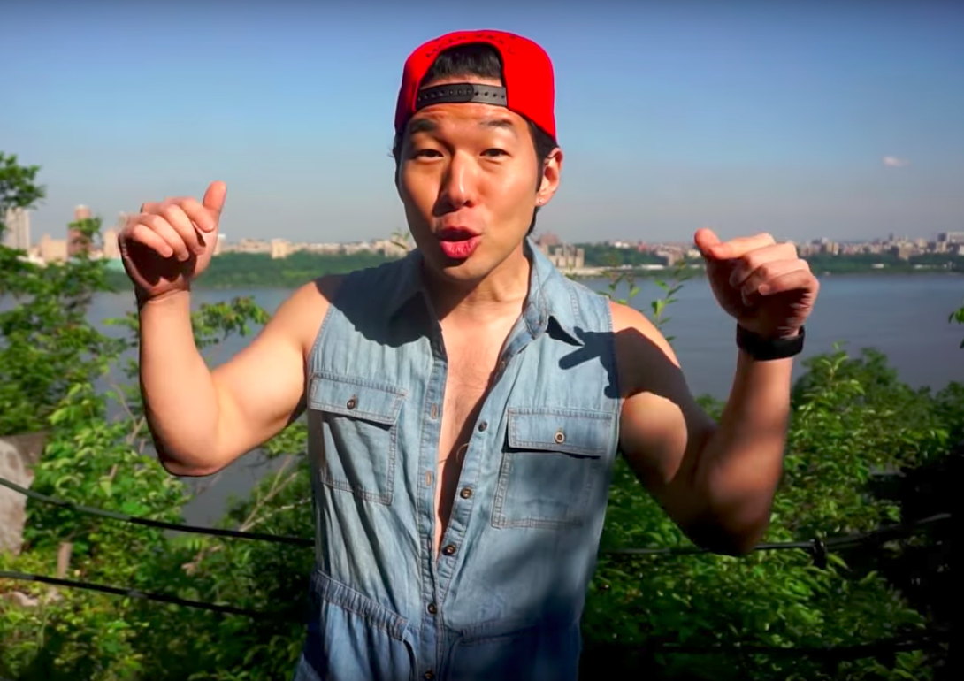 QPark - a YouTube star - and his male romper