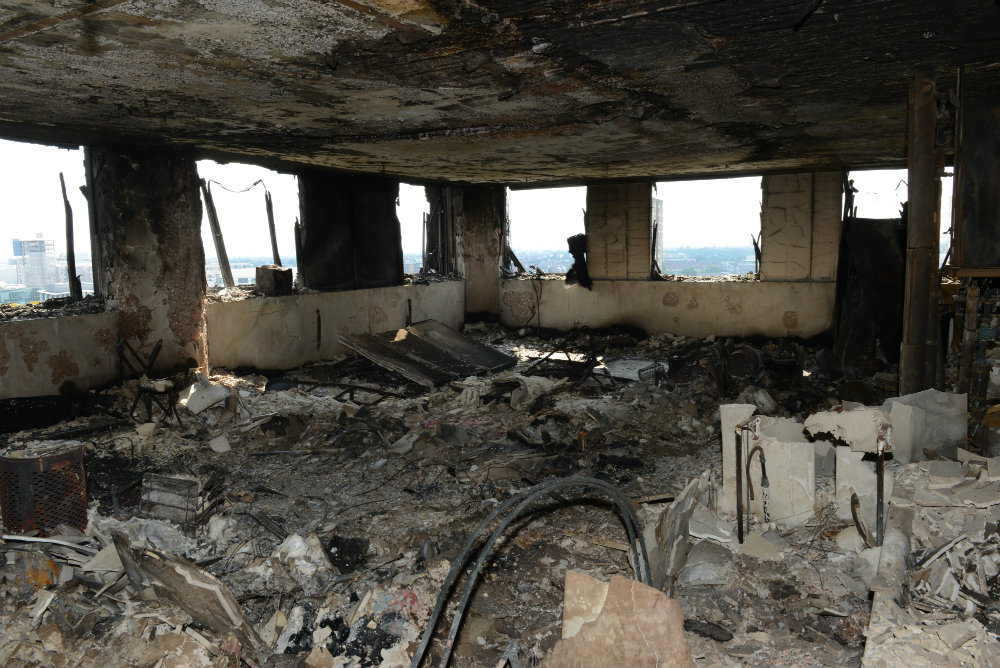 Police have released the first images from inside grenfell tower this will take us some time but i give my commitment that if as part of that investigation we identify anything that gives cause for concern for the sciox Choice Image
