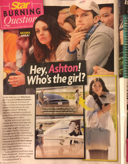 Magazine accuses Ashton Kutcher of cheating; photo was his cousin