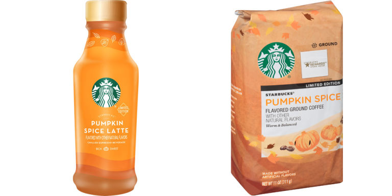 New Starbucks Pumpkin Spice Latte products