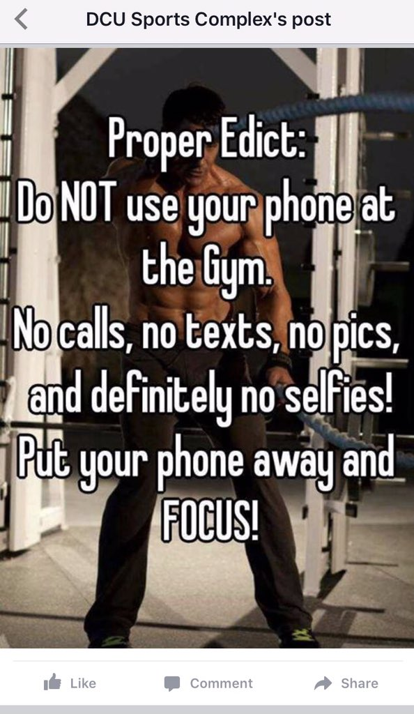 This Dublin University Has BANNED All Mobile Phones From Its Gym - Noselfies 9 places where selfies are banned