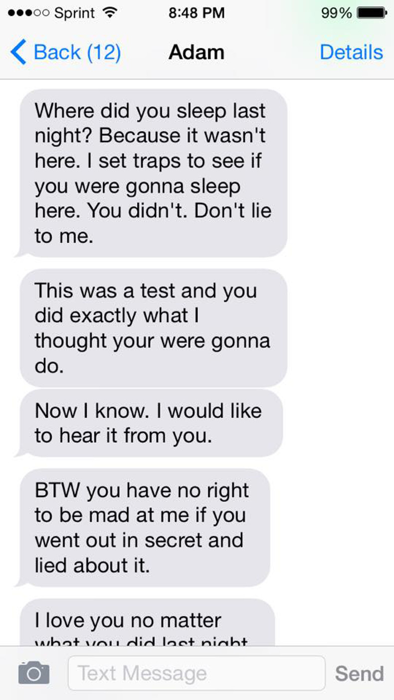 Woman's screenshots from ex-husband show reality of domestic