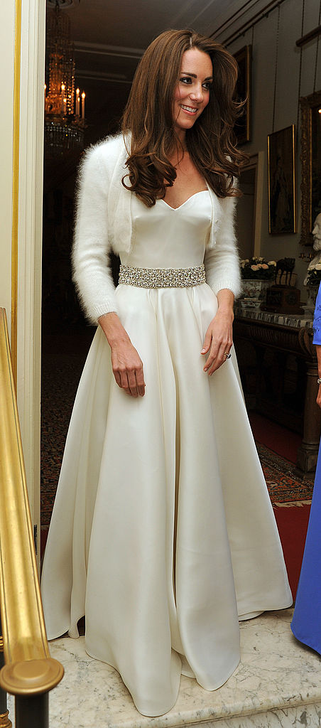 people are only now realising kate middleton had a second wedding dress her ie second wedding dress
