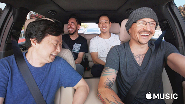 Chester Bennington's Carpool Karaoke has been released