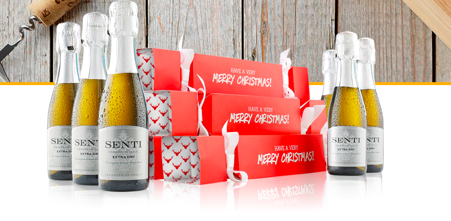 Tis the season to be jolly say hello to prosecco christmas introducing prosecco crackers to have yourself a merry little christmas merry indeed these crackers contain a 20cl bottle of senti prosecco in each solutioingenieria Image collections