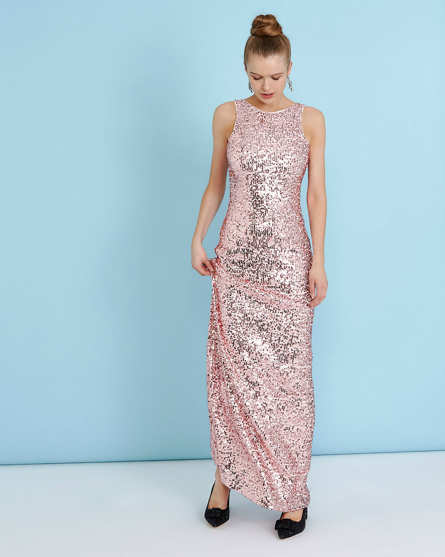 This full-length gown is from Dunnes and it\'s show-stoppingly ...