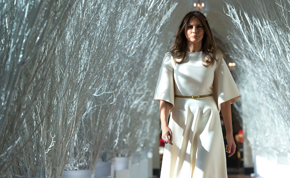 Melania Trump decorated the White House for Christmas and the internet thinks it's creepy AF