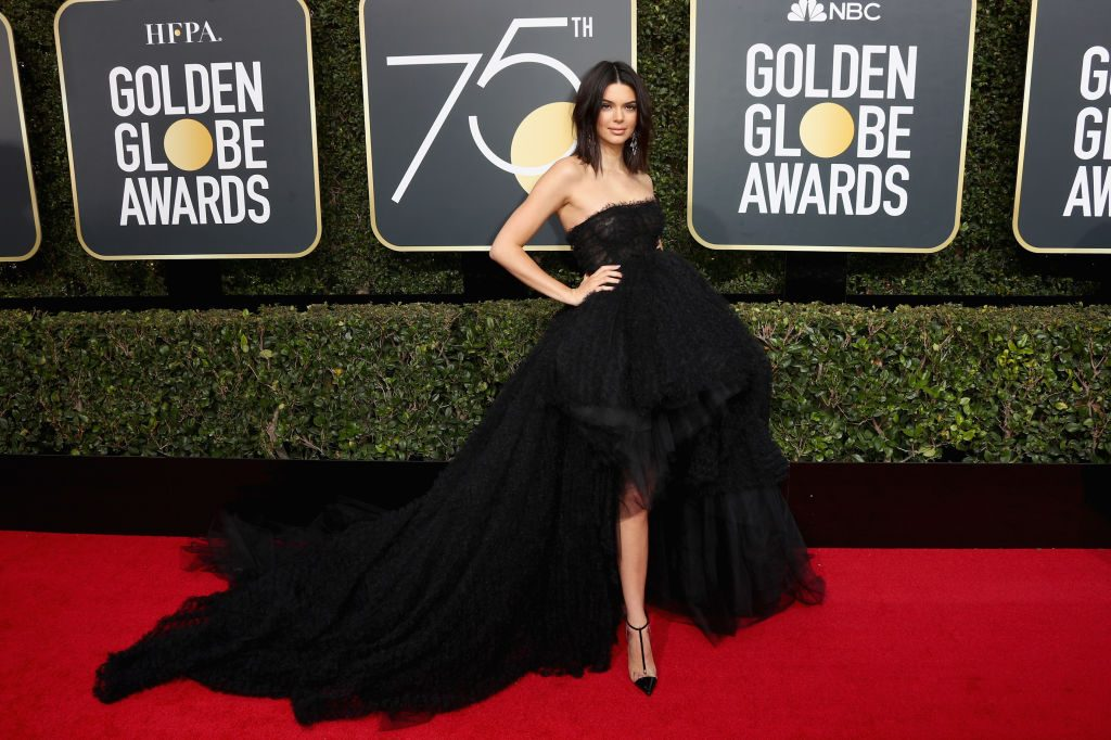 Kendall Jenner speaks out about Golden Globes acne