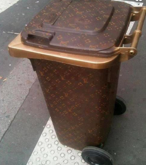 Kim Kardashian shocks fans with Louis Vuitton wheelie bins