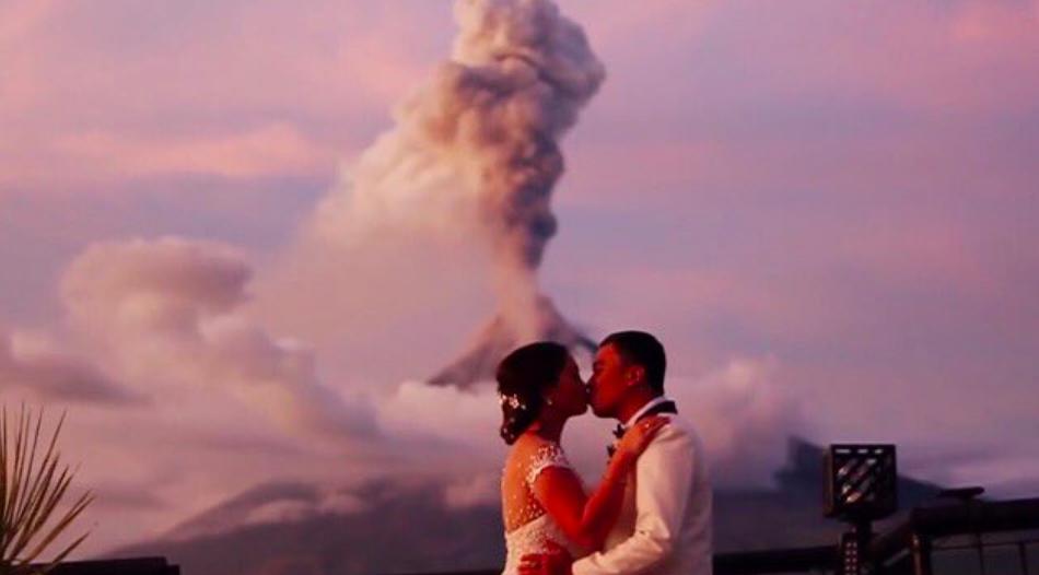 Volcano for wedding
