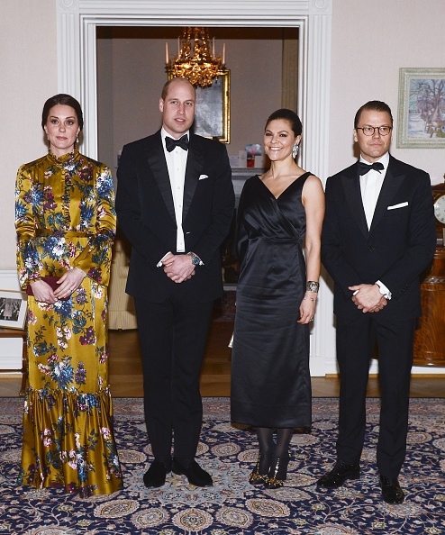 Kate Middleton went for a fairly unusual dress for a black tie event