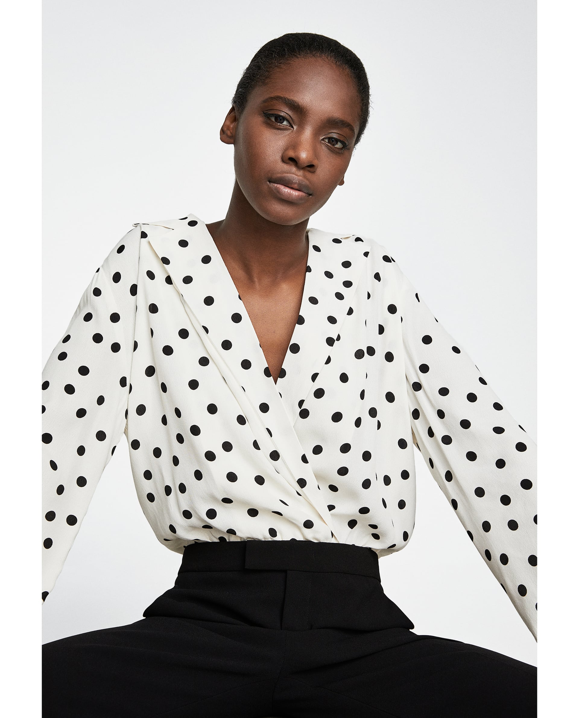 Fabulous Binky's €30 polka dot blouse is from Zara and available in ALL @PN38