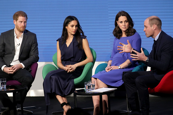 Meghan and Kate wear complimentary colours on first official public outing