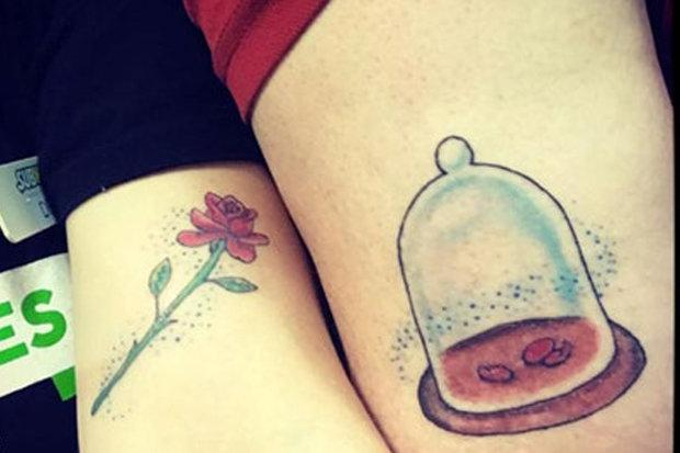 People Think This Couples Disney Tattoo Looks Like An Unfortunate