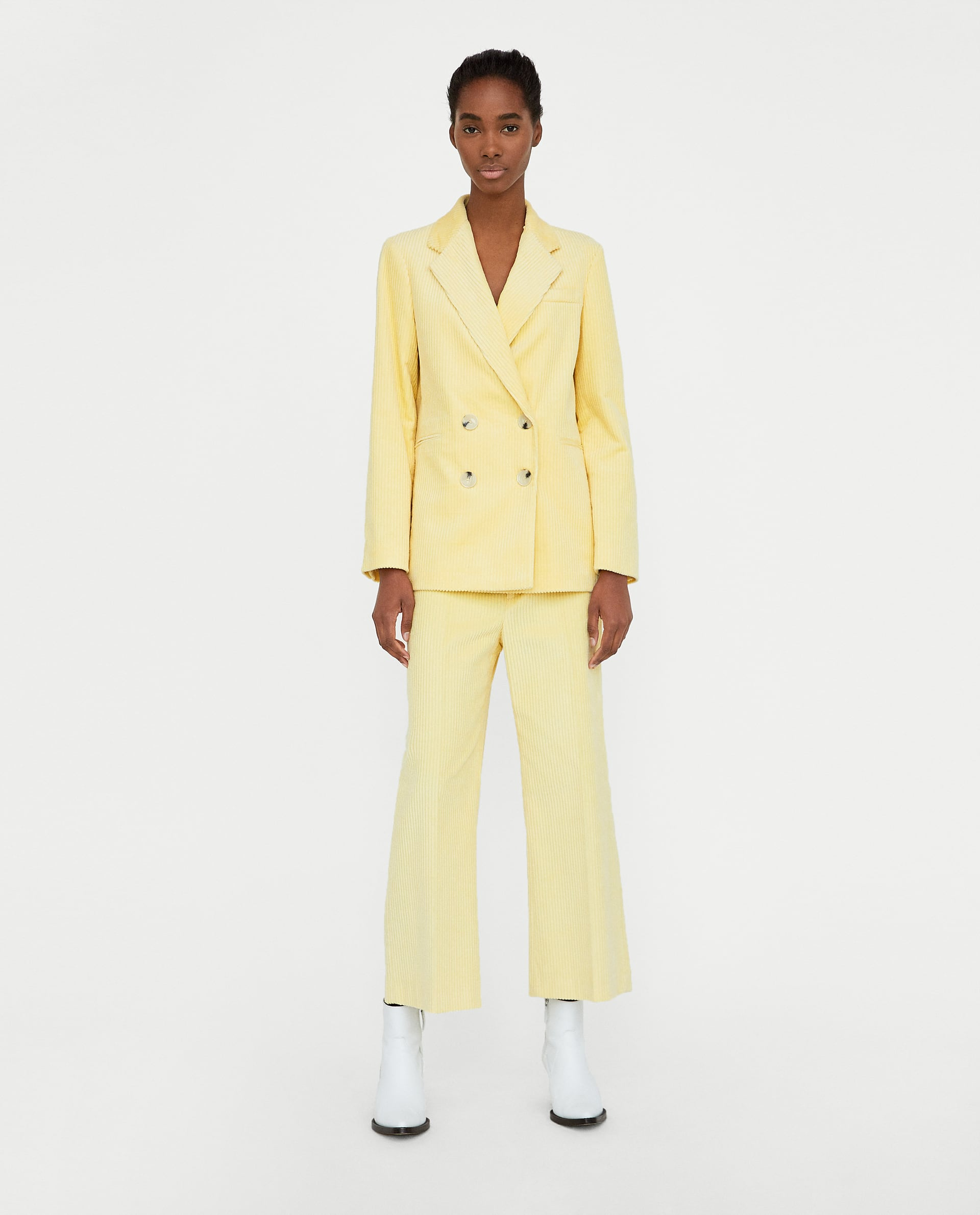 f43395023d Everyone's going mad for this bright yellow corduroy Zara suit but ...