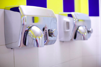 Hand dryers in the loo spraying bacteria on your hands