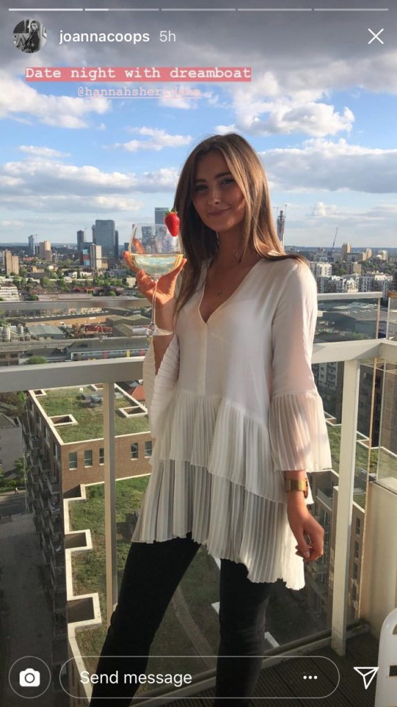 01b7706d The same blouse was furthermore spotted on the recent Insta story of model  Joanne Cooper - who dutifully shared a snap of her mate, Hannah, looking  like a ...