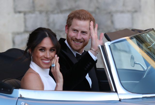 Wow! Did Meghan wear a daring lace bra to the wedding?