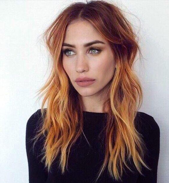 rich copper hair