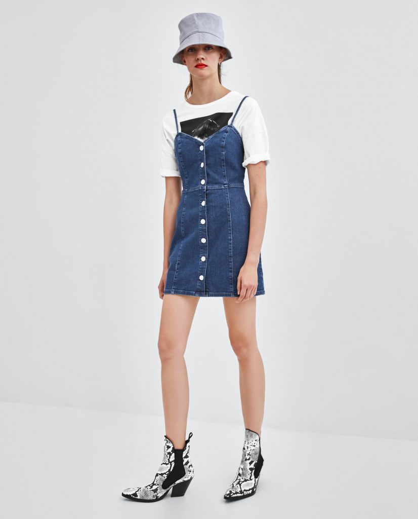 most fashionable up-to-date styling new high quality Straight in my basket! This €40 Zara denim dress is going to ...